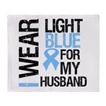 IWearLightBlue Husband Throw Blanket