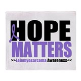 Leiomyosarcoma Hope Throw Blanket