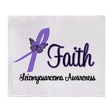 Faith Leiomyosarcoma Throw Blanket
