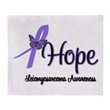 Leiomyosarcoma Survivor Throw Blanket