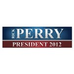 Rick Perry 2012 Sticker (Bumper)
