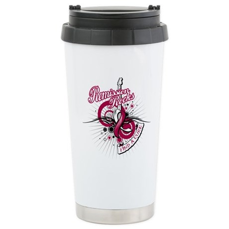Throat Cancer Remission ROCKS Ceramic Travel Mug