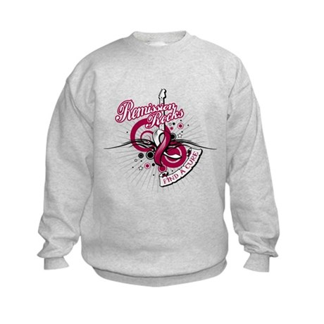 Throat Cancer Remission ROCKS Kids Sweatshirt