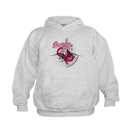 Throat Cancer Remission ROCKS Kids Hoodie
