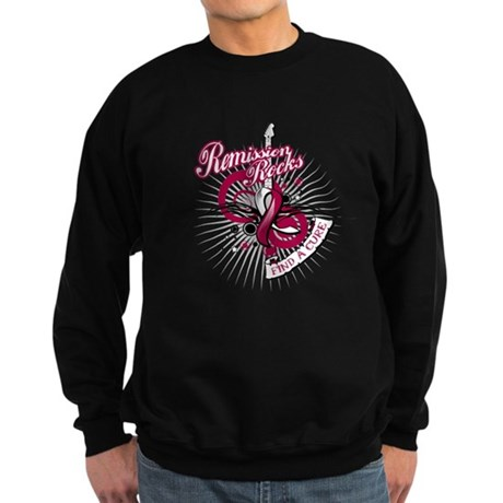 Throat Cancer Remission ROCKS Sweatshirt (dark)