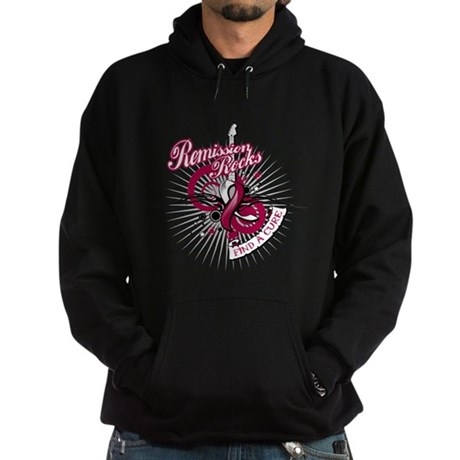 Throat Cancer Remission ROCKS Hoodie (dark)
