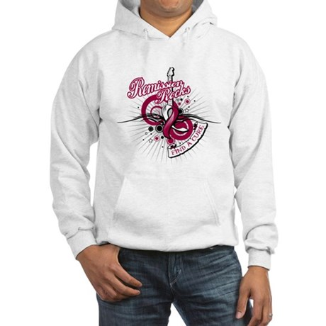 Throat Cancer Remission ROCKS Hooded Sweatshirt
