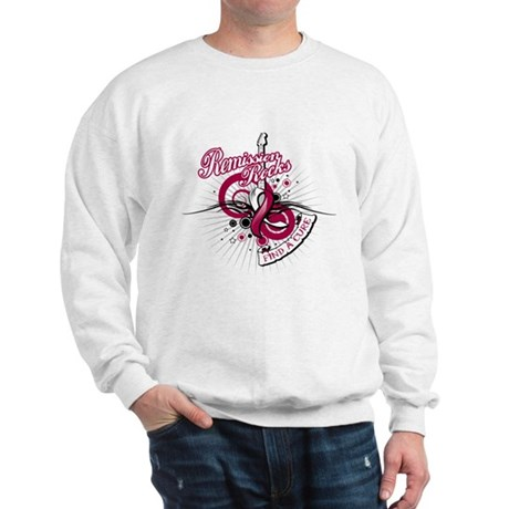Throat Cancer Remission ROCKS Sweatshirt