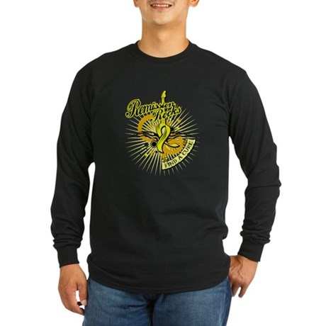Sarcoma Remission ROCKS Long Sleeve Dark T-Shirt