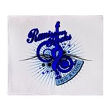 Rectal Cancer Remission ROCKS Throw Blanket