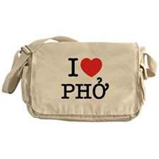 I Love (Heart) Pho Messenger Bag