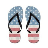 Vintage Stars and Stripes Flip Flops