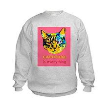 Cattitude in pink Sweatshirt