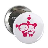 Pink Pucca Friendship Button