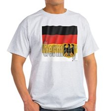 Silky Flag of Germany Ash Grey T-Shirt