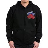 TEXAS BLUEBONNETS & POINSIETT Zipped Hoodie