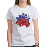 TEXAS BLUEBONNETS & POINSIETT Tee