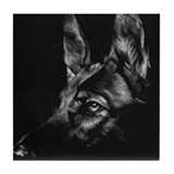 Dramatic German Shepherd Tile Coaster