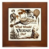 What Would Verne Do? Framed Tile