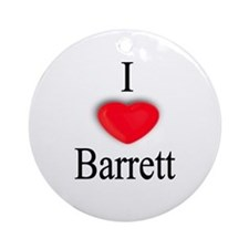 Barrett Ornament (Round)