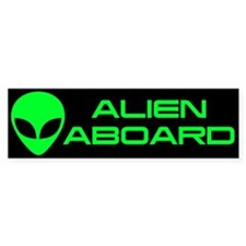Alien Aboard Bumper Sticker