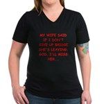 Funny designs for every bridg Women's V-Neck Dark