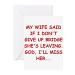 Funny designs for every bridg Greeting Cards (Pk o