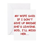 Funny designs for every bridg Greeting Card