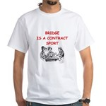Duplicate bridge White T-Shirt
