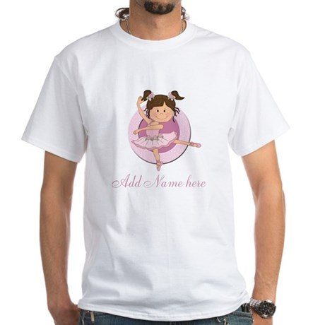 Cute Ballerina Ballet Gifts White T-Shirt