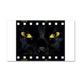 Black Cat Stare Car Magnet 20 x 12