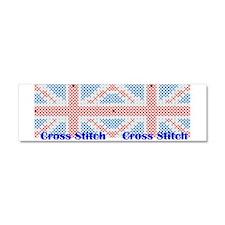 British - Cross Stitch Car Magnet 10 x 3