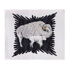 White Buffalo Throw Blanket
