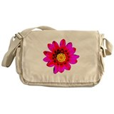 Pink Red Pop art Flower Messenger Bag