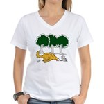 Chasing Squirrel Women's V-Neck T-Shirt