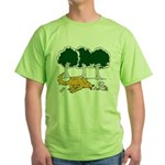 Chasing Squirrel Green T-Shirt