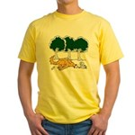 Chasing Squirrel Yellow T-Shirt