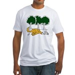Chasing Squirrel Fitted T-Shirt