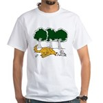 Chasing Squirrel White T-Shirt