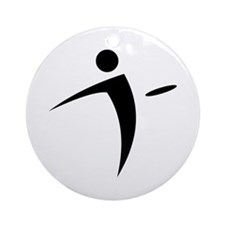 Nano Disc Golf BLACK Logo Ornament (Round)