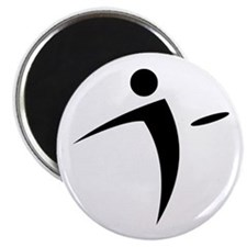 Nano Disc Golf BLACK Logo Magnet