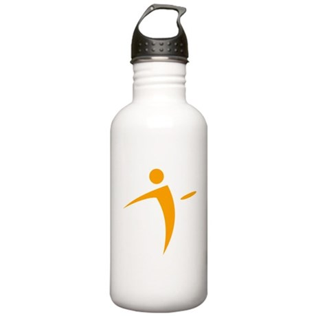 Nano Disc Golf ORANGE Logo Stainless Water Bottle