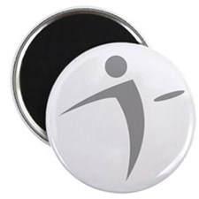 Nano Disc Golf GRAY Logo Magnet