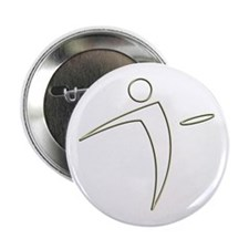 "Nano Disc Golf GOLD TRIM Logo 2.25"" Button"