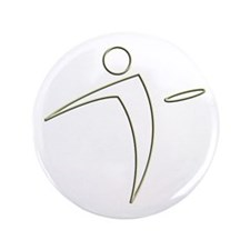 "Nano Disc Golf GOLD TRIM Logo 3.5"" Button"