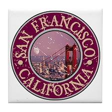 San Francisco, California Tile Coaster