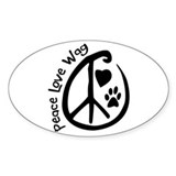 Peace Love Wag Decal