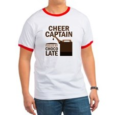Cheer Captain Chocoholic Gift T