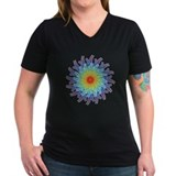 Flower of the Seven Chakras Wmn's V-Neck Dk T