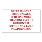 Duplicate bridge Sticker (Rectangle 10 pk)